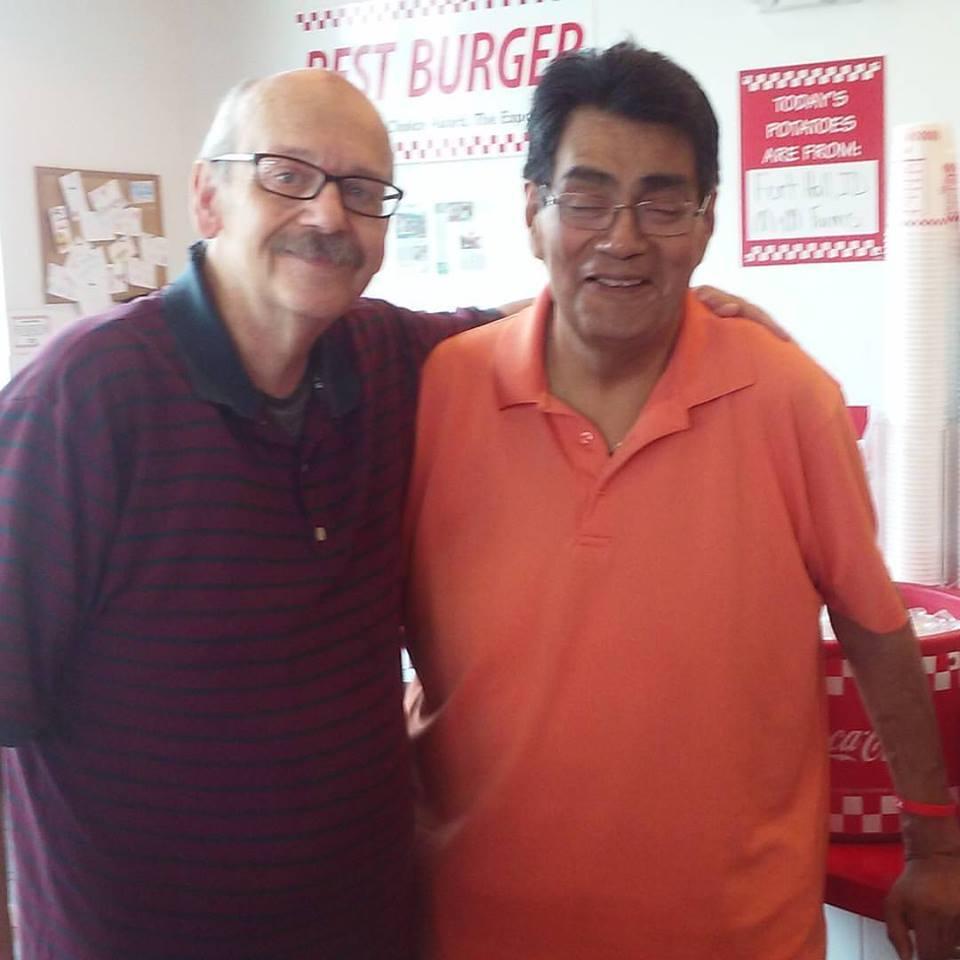 Joe and me at Five Guys Hamburger in Munster 7212016